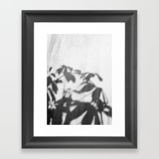 Shadows in curtain Framed Art Print