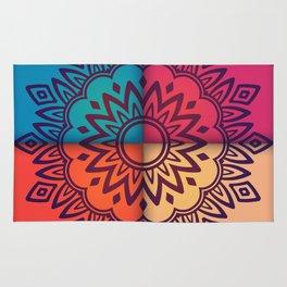 mandala 4 colors Rug