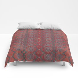 Red Chains Pattern Comforters