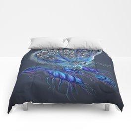 Love Lorn Butterfly-Blue & Navy Palette Comforters
