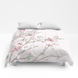 Apple Blossom Pink #society6 #buyart Comforters