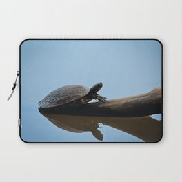 Turtle on The Lake (Color) Laptop Sleeve