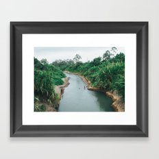 Clay Diving Framed Art Print