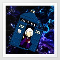 Tardis in space Doctor Who 3 Art Print