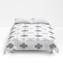 Southwestern Pattern Gray Cream Comforters