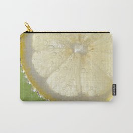 Bubbly Lemon - Lime Green Carry-All Pouch