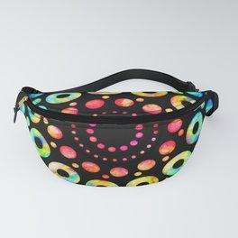 Multi-Color Mandala Tie-Dye Circle Shapes Fanny Pack