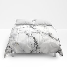 White Marble Texture Comforters