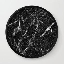 Black Marble 2 Wall Clock