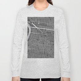 Center City Philadelphia Map Long Sleeve T-shirt