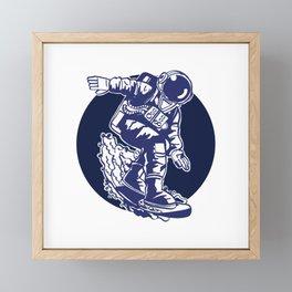 Surfing The Space Framed Mini Art Print