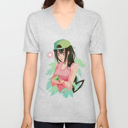 Asui Finds a Friend Unisex V-Neck