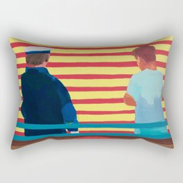 Captain and the Kid Rectangular Pillow