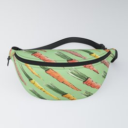 Happy colorful carrots pattern Fanny Pack
