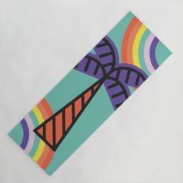 Palm Tree - Tropical minimal colorful fun memphis milano summer spring beach island rainbow 60s 70s Yoga Mat