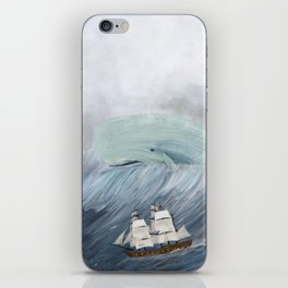 revenge of the whale iPhone Skin