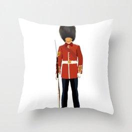 Queen London Guard  Throw Pillow