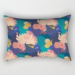 Chrysanthemums and Marigolds Rectangular Pillow