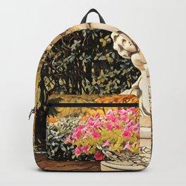 Angel statue- petunia flower holder, spirituality Backpack