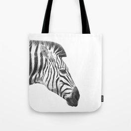 Black and White Zebra Profile Tote Bag