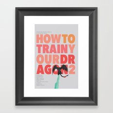 How to train your dragon 2 - minimal poster Framed Art Print