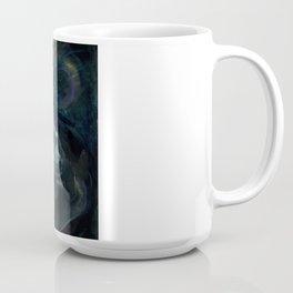 Polar Bear Swimming in Northern Lights Coffee Mug