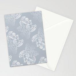 Light blue lace pattern Stationery Cards