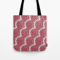 HEARTS  ~  CRIMSON & CLEAR Tote Bag