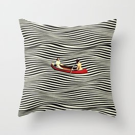 Illusionary Boat Ride Throw Pillow