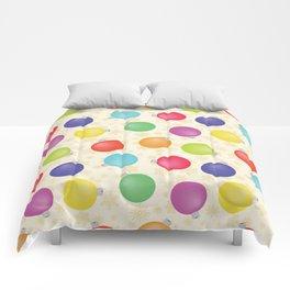 Colorful Christmas balls,Gold Snowflakes SB8 Comforters