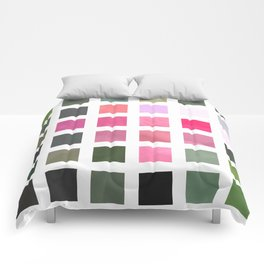 Pink Roses in Anzures 6 Abstract Rectangles 2 Comforters