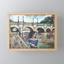 Under Paris skies. Framed Mini Art Print