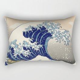 The Great Wave Off Kanagawa Rectangular Pillow