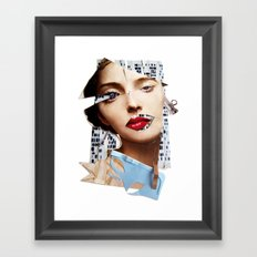 Make me beautiful | Collage Framed Art Print