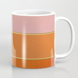 Orange, Pink And Gold Abstract Painting Coffee Mug