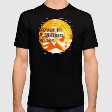 Never In A Million Years < The NO Series (Orange) MEDIUM Mens Fitted Tee Black