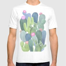 Cacti Love / Watercolor Cactus Pattern Mens Fitted Tee White MEDIUM