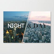NIGHT & DAY Canvas Print