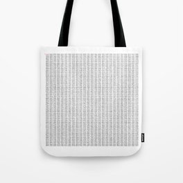 The Number Pi to 10000 digits Tote Bag