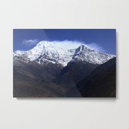 Annapurna South And Hiunchuli Mountains Metal Print