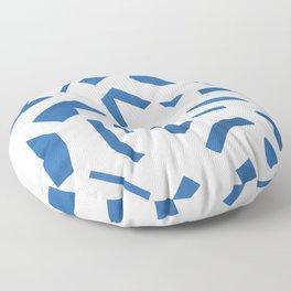 Cut Out - Blue Floor Pillow