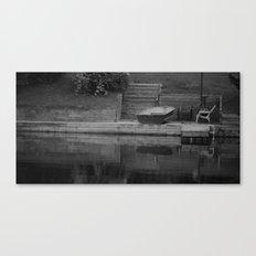 across b&w Canvas Print