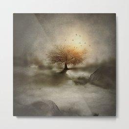 Lone Tree Love IV Metal Print