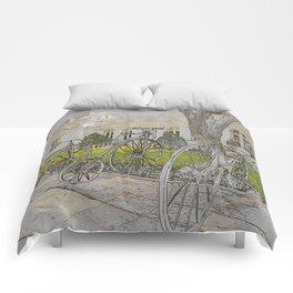 Old time bikes Comforters