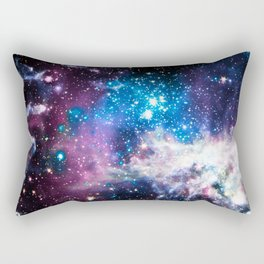 Tarantula Nebula Purple Vibrant blue Rectangular Pillow