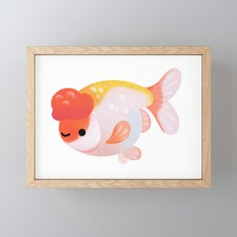 Ranchu and Forsythias Framed Mini Art Print