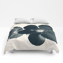 Cyan Magnolia #1 Comforters