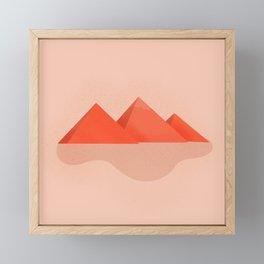 Pyramids of Giza Framed Mini Art Print