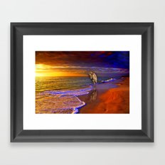 Enjoy the moment.  Sunset over  Sanibel Island, Florida Framed Art Print