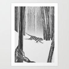 Martwood Tiger Art Print